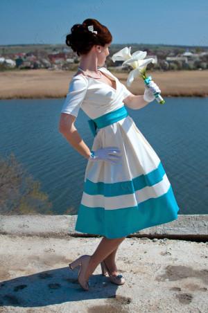 Ivory Simple Wedding Dress, Short Wedding Dress, Satin Wedding Dress With Trim, Wedding Dress With Drape