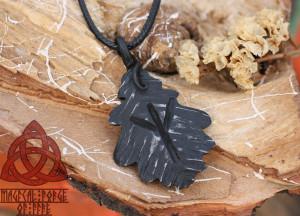 Algiz Rune Viking Necklace Amulet