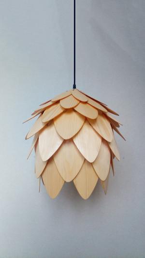 Wood Pendant Light/wood lampshade/pine cone pendant light/lamp for interior design,dining light,ceiling light,lighting