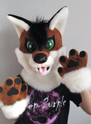Fox fursuit partial for kids, fox mascot costume, fox furry, fox halloween costume