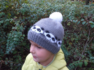 Panda hat for a boy 4-7 years old,Knitted hat for boy, woolen hat for boy, winter hat for baby