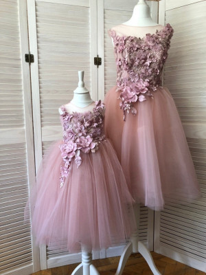 Blush family look Mother daughter matching tutu dress Blush Pink dresses Blush Mommy and Me birthday dress Rose Mutter Tochter Kleid