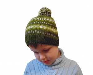 Pompon hat, knitted hat with pompon, unisex hat, baby hat, beanie hat, green hat,knitted hat, winter hat, handmade hat, baby hat