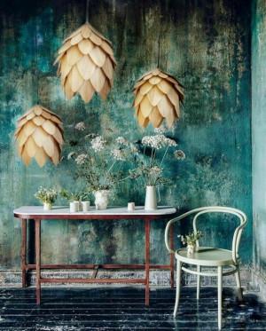 Wood Cone Lamp / Wood Pendant Light / wood lampshade / pine cone light / lamp for interior design,dining light,ceiling light,lighting