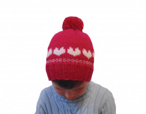 Handmade knitted hat, children hat, hat with pompon, hat for girl, a pink hat,knitted hat, winter hat, handmade hat, baby hat, warm hat