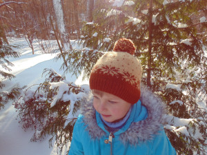 Knitted baby hat 4-7 years old with snowflakes,Knitted hat for boy, woolen hat for boy, winter hat for baby