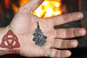 Forged Iron Raidho Rune Viking Futhark Raido Rune pendant