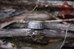 Damascus Forged Steel Flat Band Ring Custom Handmade Ring