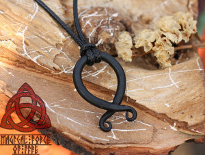 Troll cross Iron Pendant Necklace Handmade Vikings Amulet
