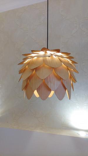 Wooden Chandelier / Wood Handing Lamp / Handing Chandelier / Pendant Lamp