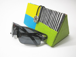 Glasses case hard Sunglasses pouch Chartreuse decor Glasses case unique Sunglasses case Case for women Hand painted case Color blocked
