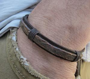 Copper oxidized, Copper bracelet, Gift for men, Mens Leather Bracelet, Leather Bracelet, Leather jewelery, Gift for husband, Mens cuff