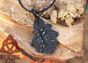 Fehu Viking Rune Forged Iron Fehu Rune Protection Necklace Amulet Runic