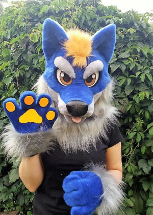 Fursuit head wolf, fursuit kids, for girls, fursuit head cheap, fursuit partial premade, fursuit mini partial, oneandonlycostumes