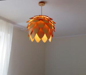 Pendant Light / wood lampshade/pine cone pendant light/Wood lighting/lamp for interior design,dining light,ceiling light,lighting
