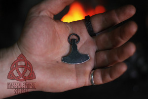Forged Iron Ax Necklace Scandinavian Amulet