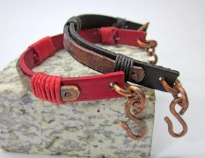 Couple bracelets Leather boyfriend girlfriend bracelet His and hers Bracelets  Matching bracelets friends Copper oxidized Gift for Couple