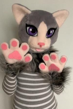 Domestic cat fursuit, fursuit cat, fursuit kids, fursuit for girls, fursuit head cheap, fursuit partial premade, fursuit mini partial