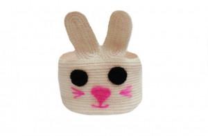 Knitted basket bunny,  decorative basket, basket toys, storage basket, round basket, bathroom basket, baby basket, Easter basket,home basket