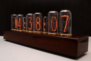 Nixie Clock IN-14 Full *Natural wood*
