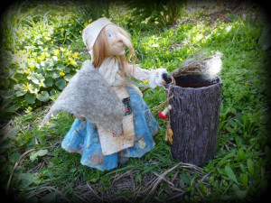 Kitchen witch doll Horror decor crone witchcraft supplies ethnic dolls Kitchen witchery baba yaga dolls Ooak fantasy doll flying witch doll