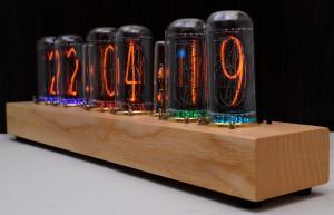 Nixie Clock IN-18 Full *Natural wood*