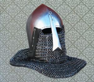 Custom Steel Medieval Tourney Bascinet Helmet, Nasal Bascinet Helmet for Cosplay, LARP and SCA, 14th Century Knight Armor for BoTN Buhurts
