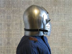 Bascinet Medieval Helmet, SCA Knights Pig Face Helmet for Historical Reenactment, 14th Century Bascinet for LARP and Knights Cosplay