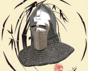 Medieval Buhurt Bascinet, Best Middle Ages Replica Helmet for Knights Sword Combat, Battle Ready Bascinet Helmet, 14th Century SCA Armor