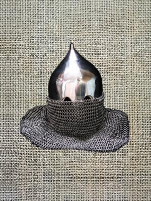 Medieval Conical Helmet Replica from Kievan Rus, SCA Combat Helmet, Buhurt Ready Full Face Closed Helmet, Medieval Tourney Helmet