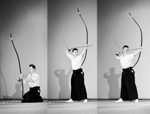 Wooden Bow Yumi, Japanese Long Daikyu Bow for Practitioners of Modern Kyudo, Traditional Asymmetrical Bow for Intuitive Spiritual Archery