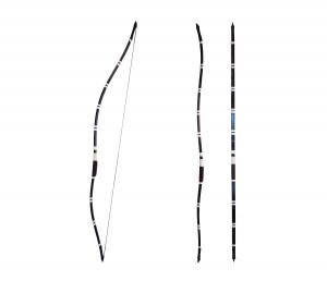Yumi Hankyu Custom Black Bow Japanese Traditional Bamboo Bow 半弓 Kyudo and Kyujutsu Training Bow Samurai Archery Culture Kyudo Wooden Bow