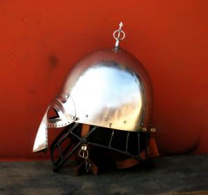 Replica Knight Helmet with Nose | Helmet Medieval | Jousting Helmet | Cosplay Helmet | Medieval Face Armor | Enclosed Helmet | Vendel Helmet