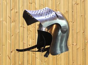 Full Face Helmet with Visor Bascinet Griffon, Steel Training Helmet, SCA Medieval Knights Modern Fighting Helmet for IMCF Armored Combat