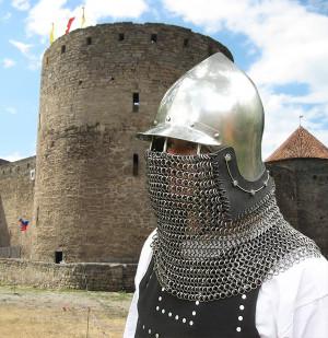 Helmet Full Face Medieval Buhurt Ready Bascinet Full Contact Knights Bascinet Armored Combat IMCF Armor Tempered Steel Knight Custom Helmet