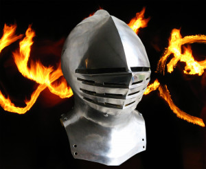 Medieval Helmet Armet, European Knight Jousting Helmet, 15th Century SCA Armor Close Helmet, Battle Ready Medieval Crusader Helmet