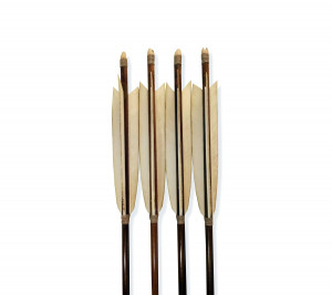 Traditional Kyudo Arrows for Yumi, Bamboo Super Long Arrows 44 inch, Japanese Art of Archery Ya for Daikyu Bow Practice