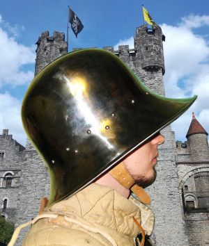 Medieval Kettle Helmet Eisenhut Replica, Archers Steel Kettle Hat With Wide Brim, Knight  Helmet Chapel for LARP and SCA Reenactment