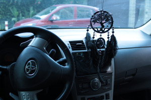 Black Tree of life car charm Dream catcher, Driving Test Pass, Driving Test Gift, 1 year anniversary gift for boyfriend