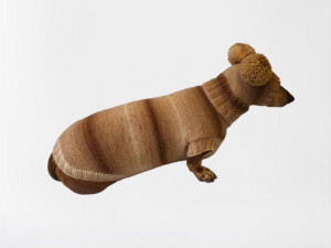 Suit bear for dog sweater and hat,Wiener sweater and hat, Doxie sweater and hat set, clothes for small dog of dachshund