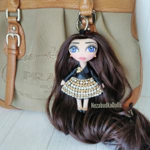 Personalized Cloth doll handmade Bag charm Accessory Keychains