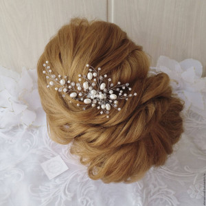 FREE SHIPPING!!Bridal hair comb,Bridal hair vine,Crystals Bridal Wedding,Hairpiece,Bridal Hair Vine,Wedding hair vine,pearl hair vine,combs