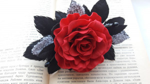 Women's Rose_ Hair Flower Clip  hair clip