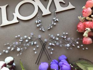 Wedding set, erring wedding, hair pins wedding, hair pins, erring bridal, hair pins bridal.