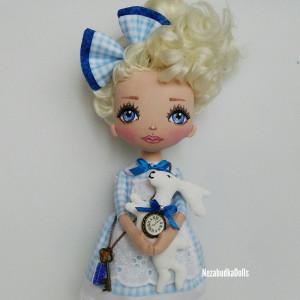 Custom rag doll Alice art doll
