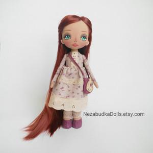 Custom rag doll handmade Personalized art doll