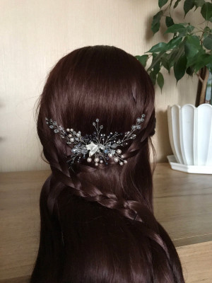 Bridal hair comb. Bridal headpiece. Wedding hair piece. Bridal hair accessories. Wedding hair comb. Decorative comb. Crystal hair comb