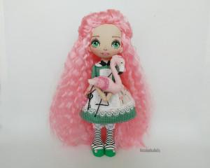 Alice rag doll Custom art doll