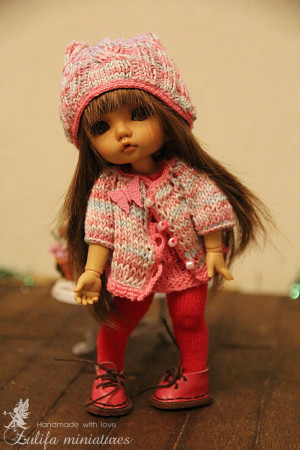 Doll pink knitted outfit Lati Yellow outfit Irrealdoll Pukifee Nikki Britt Outfit Tender Hooligan for bjd dolls format tiny PukiFee