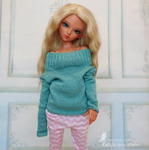 Minifee mint sweater transformer mint color 1/4 MSD mint sweater for MSD sweater Minifee outfit or bjd Minifee MSD clothes sweater